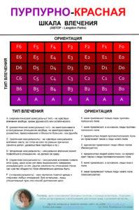 Пурпурно-красная шкала сексуального влечения
